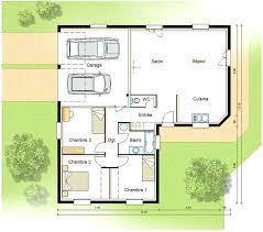 plan de maison de plain pied avec 4 chambres plan de maison 4 chambres avec etage 14 plan maison plain