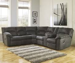 Corner Sectional Sofa Signature Design By Tambo Pewter 2 Reclining Corner