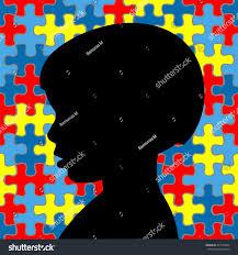 boy puzzle background autism awareness stock vector 275153948