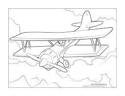 plane coloring pages excellent printable airplanes cartoons planes