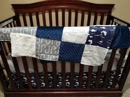 boy crib bedding navy bass gray hooks hunting fishing ivory