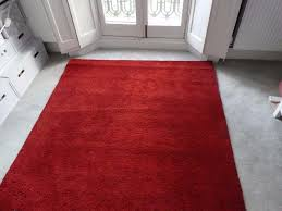ikea rug 133x195cm red in leith edinburgh gumtree