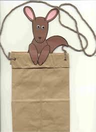 kangaroo craft efac and mefac brown paper bag and half a