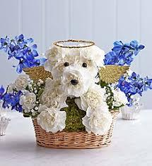 Dog Flower Arrangement All Dogs Go To Heaven