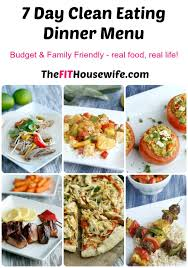 free clean eating meal plan the fit housewife