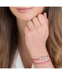 pink leather bracelet images Pandora leather bracelet uk sale pandora hot pink double leather jpg