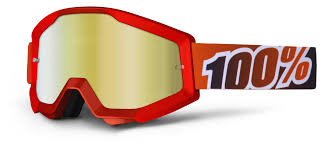 tinted motocross goggles 100 strata goggles mirrored lens cycle gear