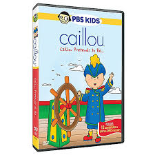 caillou pretends to be dvd caillou