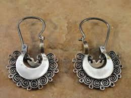beautiful ear rings small beautiful mexican mexico sterling silver oaxacan hoop