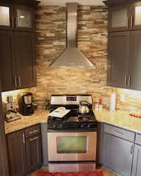 Stacked Stone Kitchen Backsplash Kitchen Architecture Designs Latest Stack Stone Fireplace