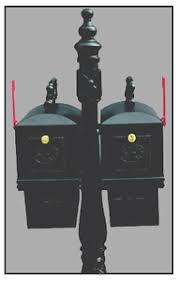 curbside mailbox with ornamental post newspaper box cheap