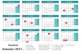 Kalender 2018 Mit Feiertagen Saarland Kalender 2017 Saarland