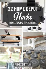 best home depot hacks homesteads diy furniture and life hacks