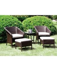 Patio Chairs With Ottomans Spectacular Deal On Furniture Of America Mullan 5 Piece Espresso