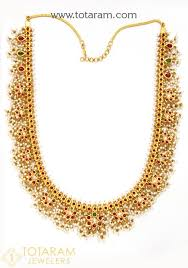 beads gold necklace images 22k gold necklace gutta pusalu for women with pearls cz beads jpg