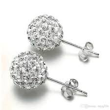 s diamond earrings 2017 new women s fashion rhinestone cz flower bud stud