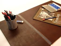 Brown Leather Desk Accessories Accessories Brown Leather Desk Blotter Picture How To Select
