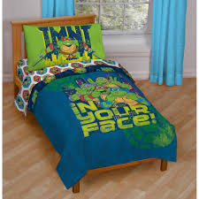 Comforters For Toddler Beds Nickelodeon Teenage Mutant Ninja Turtles 4 Piece Toddler Bedding