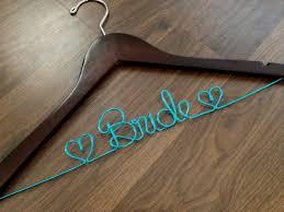 wedding dress hanger bridal hanger name hanger by deighandesign