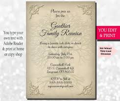 Get Together Party Invitation Card Family Reunion Invitation Family Party Invitation Family Get