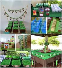 minecraft party decorations minecraft themed birthday of awesome ideas party via kara s