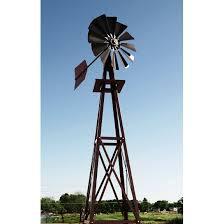 decorative 13 ft wood backyard windmill with tips hayneedle