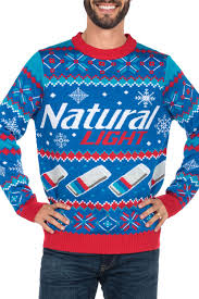 men u0027s natural light ugly christmas sweater tipsy elves