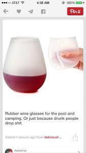 Wine Glass Meme - rubber wine glasses