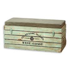 Pillow Top Bench The West Coast Pillow Top Steamer Trunk Storage Box Bench Over