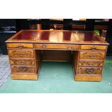 bureau president desk in burr walnut