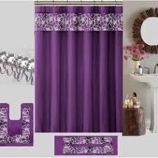Purple Shower Curtain Sets - purple shower curtain and bath set from amazon com purple 1