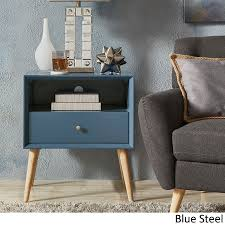 Accent Side Table Marin Modern 1 Drawer Storage Accent Side Table Inspire Q