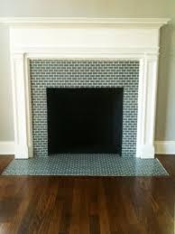 vintage tile fireplace surround round designs