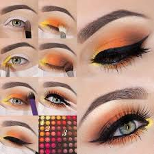 Pretty Orange 12 Colorful Eyeshadow Tutorials For Beginners Makeup Tutorials