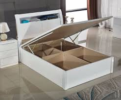 brand new ultra high gloss double king size ottoman storage bed