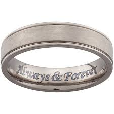 wedding band engravings personalized stainless steel engraved wedding band walmart