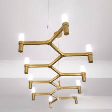 Linear Chandeliers Fashion Style Modern Contemporary Gold Tones Pendant Chandeliers