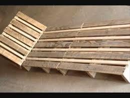 chaise longue palette fabriquer une chaise longue design en palette