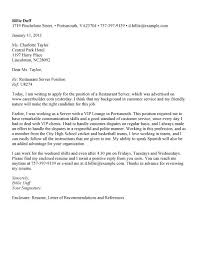 best ideas of server cover letter example no experience for