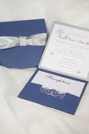 royal blue wedding invitations wedding invitation royal blue and silver wedding invitation