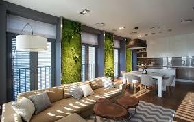 coussin decoration canapé design interieur decoration salon murs végétalisés canapé beige
