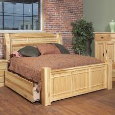 Wood Panel Bed Frame by Aamerica Amish Highlands Queen Arch Panel Bed W Storage Box