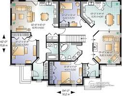 multifamily house plans multi family plan w3040 detail from drummondhouseplans com