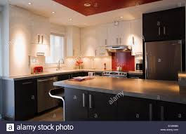modern kitchen room inside a split level style residential home