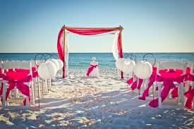 interior design fresh beach themed wedding reception decoration