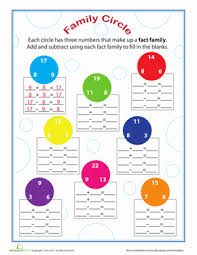 number fact families fact families worksheet education