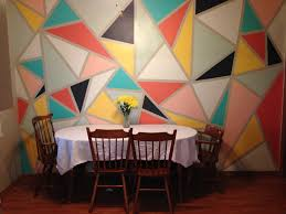 how to paint a triangle wall mural in 4 hours and 30