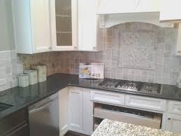 backsplash creative travertine tile kitchen backsplash room