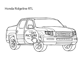 car honda ridgeline coloring page cool car printable free
