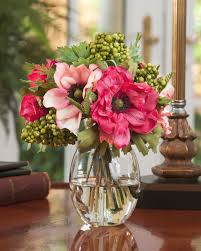 artificial flower decoration for home buy berry u0026 anemone silk flower accent arrangment at
